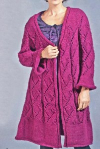 Вязаное женское пальто спицами: схема, фото, описание