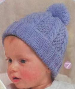 Вязание шапочек для мальчиков спицами с описанием и схемами 196