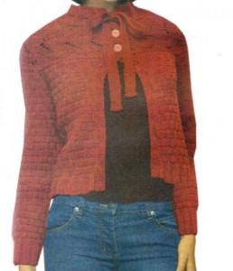 Жакет с завязками спицами: схема, фото, описание вязания