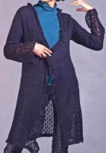 Черный кардиган спицами: фото, схема, описание вязания