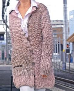 Как связать пальто спицами: схема, фото, описание вязания