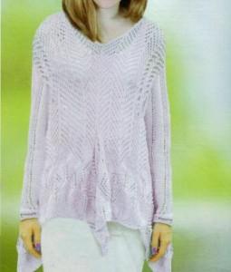 Модный пуловер спицами: описание вязания, схемы, фото