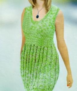 Ажурная туника спицами: схема, описание вязания, фото