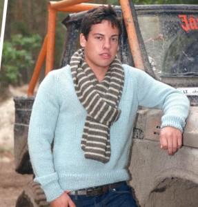 Как связать мужской пуловер спицами: схема, фото, описание