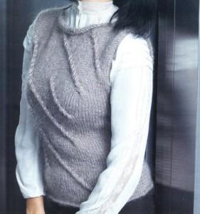 Топ из мохера спицами: описание вязания, схема, фото