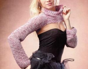 Болеро с воротником спицами: фото, схема