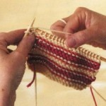 Вязание цветных полос
