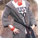 Вязанная женская куртка