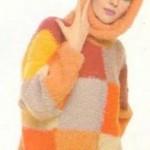 Как связать женский свитер спицами