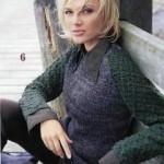 Как связать женский пуловер спицами