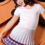Как связать юбку для девочки: описание, фото, схема