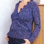 Меланжевый пуловер: описание, схема, фото