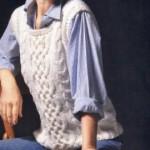Белая безрукавка: фото, схема, описание