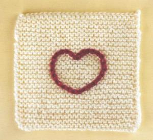 Квадрат с сердечком: описание, фото, схема