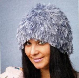 Вязаная шапка-папаха: схема, фото