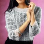 Короткий ажурный пуловер