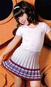 Как связать юбку для девочки спицами: видео для начинающих, описание, фото, схема